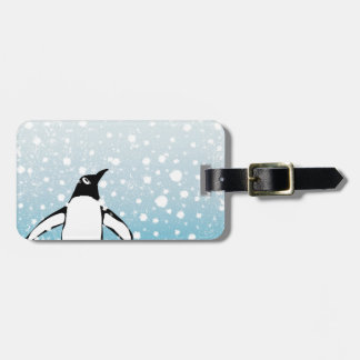 Penguin In The Snow Luggage Tag