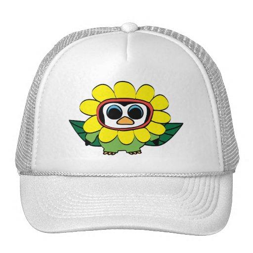 Penguin in Yellow Flower Costume Trucker Hats