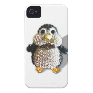 Penguin Jewel Add Text  & Choose Colors You Want Case-Mate iPhone 4 Case