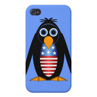 penguin July 4th iPhone 4 Cover