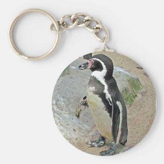 Penguin Key ring Basic Round Button Key Ring
