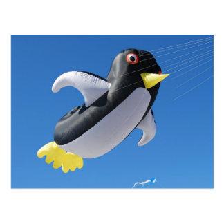 Penguin Kite Postcard