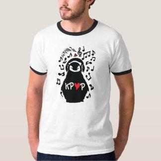 PENGUIN LISTEN TO KPOP MUSIC Men's Basic Ringer T- T-Shirt