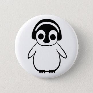 Penguin Listens To Music Badge