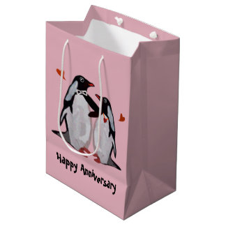 Penguin Love Anniversary Gift Bags