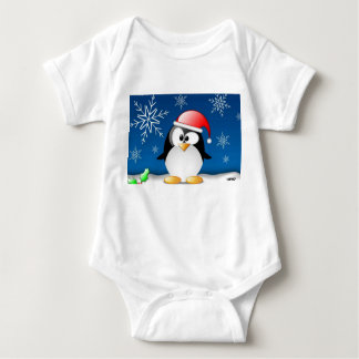 Penguin -Merry Christmas and a Happy New Year 2018 Baby Bodysuit