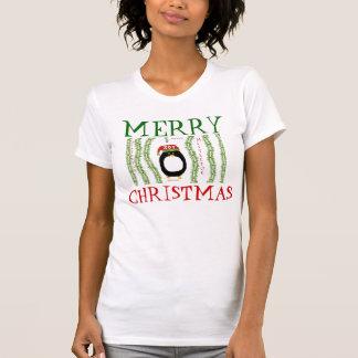 PENGUIN MERRY CHRISTMAS MISTLETOE Shirts n Tees