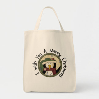Penguin Merry Christmas T-shirts and Gifts Tote Bag