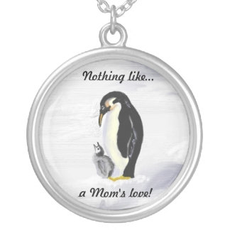 Penguin Mom & Baby Necklace