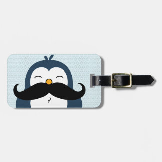 Penguin Mustache Trend Personalized Luggage Tag