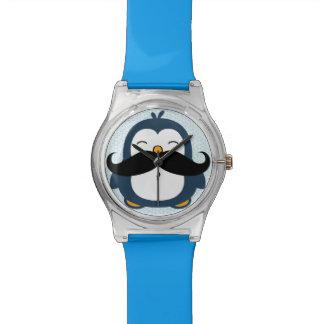 Penguin Mustache Trend Wrist Watch