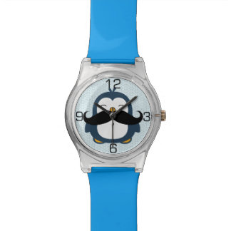 Penguin Mustache Trend Wristwatches