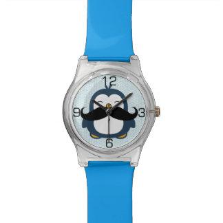 Penguin Mustache Trend Wristwatches