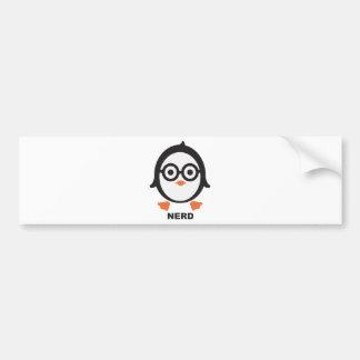 Penguin - nerd - penguin bumper sticker