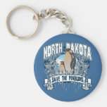 Penguin North Dakota Key Chains