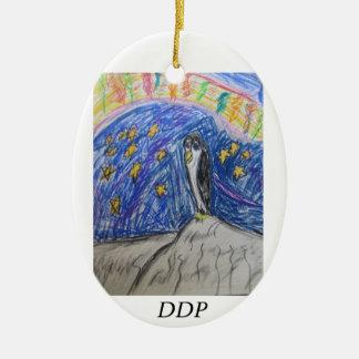 Penguin north light ceramic oval decoration