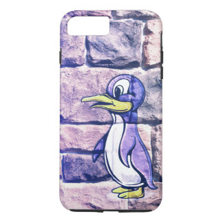 Penguin On A Brick Wall iPhone 7 Plus Case