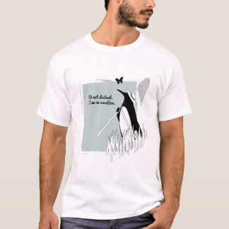 Penguin on Vacation Funny Chic Illustration T-Shirt