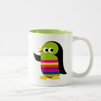Penguin Penguins Bird Cute Cartoon Two-Tone Coffee Mug