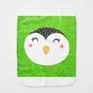 penguin phase burp cloth
