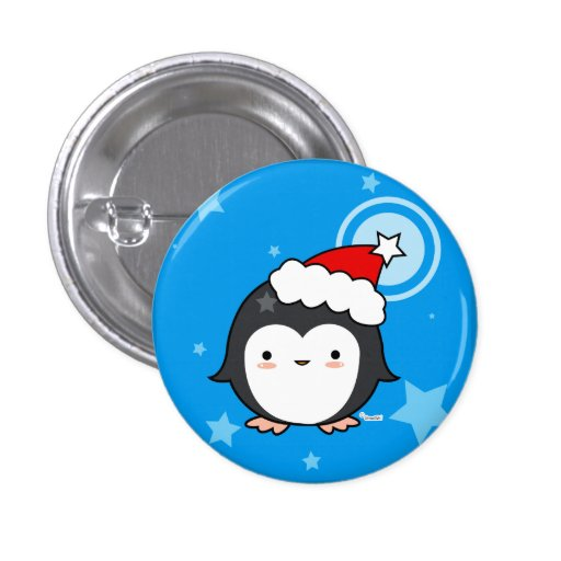 Penguin Puff Christmas Button (more styles)