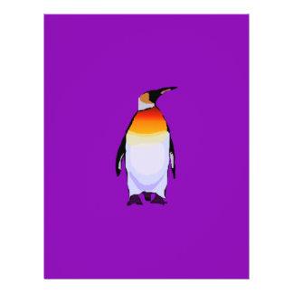 Penguin Purple 21.5 Cm X 28 Cm Flyer