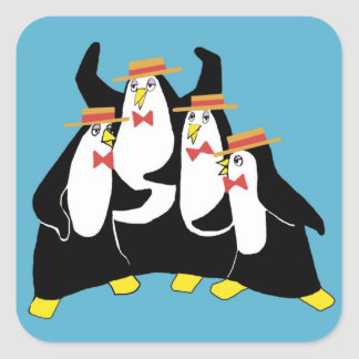 Penguin Quartet Square Sticker