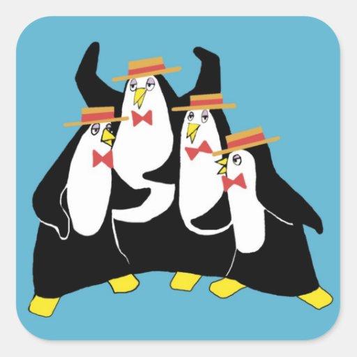 Penguin Quartet Sticker