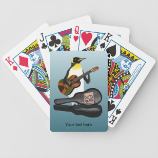Penguin Reggae Guitar Bicycle Playing Cards