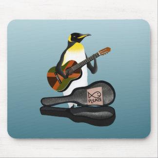 Penguin Reggae Guitar Mouse Pad