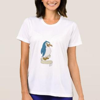 Penguin Ribbon Scroll Cartoon T-Shirt