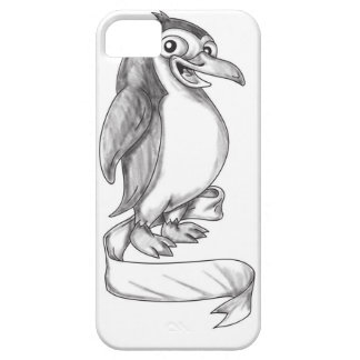 Penguin Ribbon Side Tattoo Case For The iPhone 5