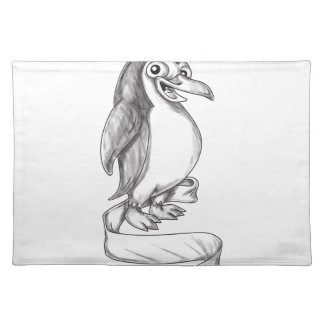 Penguin Ribbon Side Tattoo Placemat