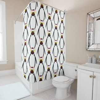 Penguin rockhopper or macaroni shower curtain