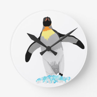 Penguin Round Clock