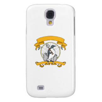 Penguin Shovel Chick Dreamcatcher Drawing Galaxy S4 Cover