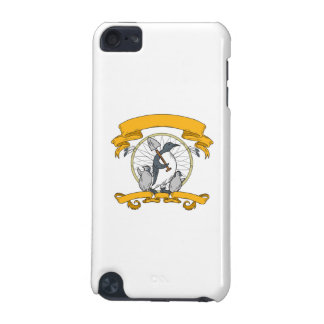 Penguin Shovel Chick Dreamcatcher Drawing iPod Touch (5th Generation) Case