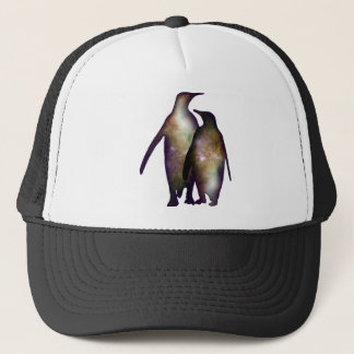 Penguin space trucker hat