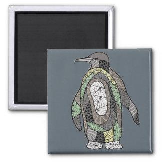 Penguin Square Magnet