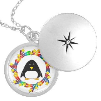 Penguin Stars Locket Necklace