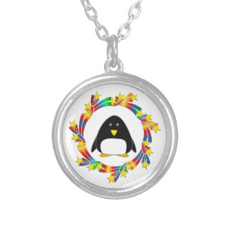 Penguin Stars Silver Plated Necklace