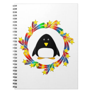 Penguin Stars Spiral Notebook