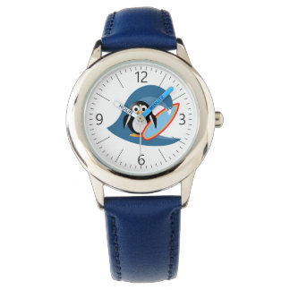 Penguin surfer watch