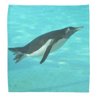 Penguin Swimming Underwater Head Kerchiefs