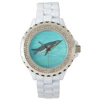 Penguin Swimming Underwater Wristwatch