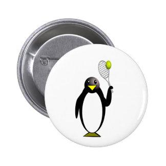 Penguin Tennis 6 Cm Round Badge