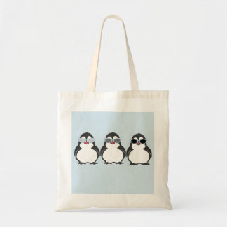 Penguin triplets sunglasses tote bag