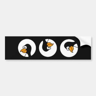 Penguin turns in circles bumper sticker