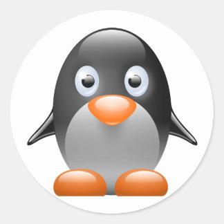 penguin tux linux image sticker