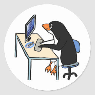 penguin tux system administrator sticker